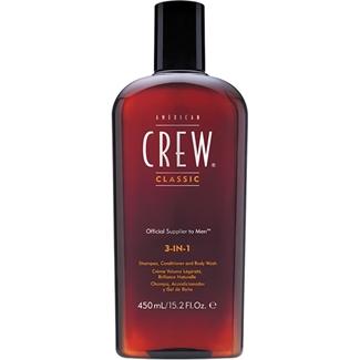 American Crew - Hair & Body - 3-IN-1 - 450  Ml. Shampooing, soin, gel douche