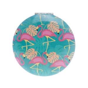 Image sur Miroir de poche Flamingo Bleu