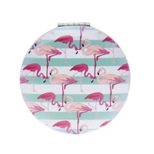 Image sur Miroir de poche Flamingo Rayé Bleu