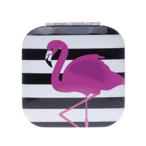 Image sur Miroir de poche Flamingo Rayé noir