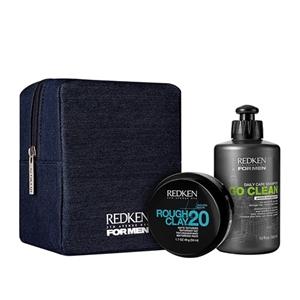 Image sur For men Kit Shampooing Go Clean et Rough Clay 20