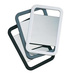 Image sur Miroir rectangulaire noir double face