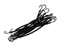Image de Elastiques crochets Brun/noir