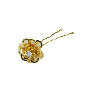 Image sur Epingles cheveux Flor strass Gold x 5