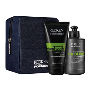 Image sur For men kit Shampooing Go Clean et stand tough