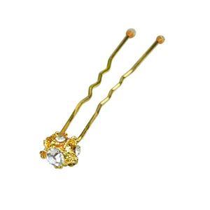 Image sur Epingle chignon strass gold x2